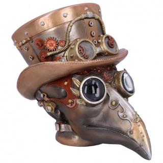 Tête d'automate docteur de peste steampunk - 20.5cm