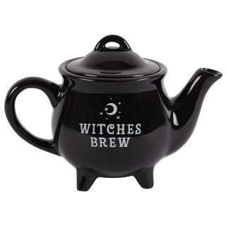 """Théière noire en forme de chaudron """"Witches Brew"""" (Potion des sorcières)"""