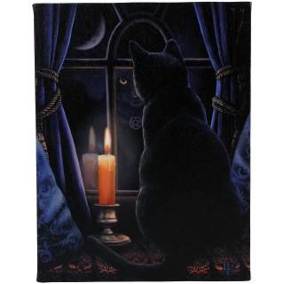 """Toile canevas Chat """"Le gardien de minuit"""" - Lisa Parker (19x25cm)"""