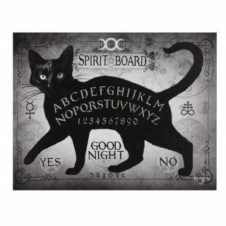 Toile canevas à Chat noir ouija Spirit Board - Alchemy (19x25cm)