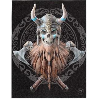 Toile canevas à crane de guerrier viking - Anne Stokes (19x25cm)