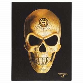 Toile canevas à crane Omega Skull - Alchemy (19x25cm)