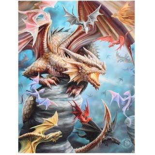 """Toile canevas """"Dragon clan"""" - Anne Stokes (19x25cm)"""