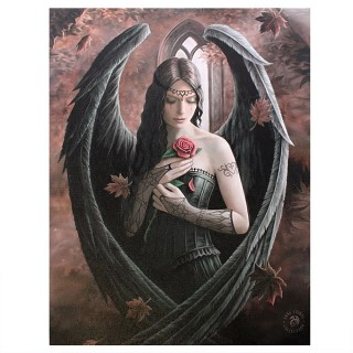 """Toile canevas à femme ange gothique """"Angel Rose"""" - Anne Stokes (19x25cm)"""
