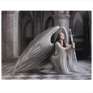 Toile canevas à femme ange à l'épée - Anne Stokes (19x25cm)