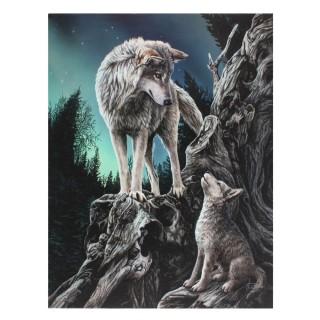 """Toile canevas à louve et louveteau """"Guidance"""" - Lisa Parker (19x25cm)"""