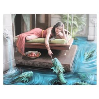 Toile canevas à princesse et dragons d'eau - Anne Stokes (19x25cm)