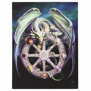 Toile canevas Roue de l'année et dragon - Anne Stokes (19x25cm)