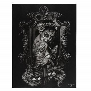 Toile canevas à veuve noire tatouée - Alchemy (19x25cm)