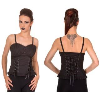 Top / bustier corseté style victorien - Banned