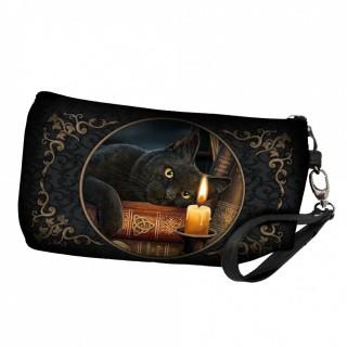 Trousse de toilette à chat noir et grimoire - Lisa Parker