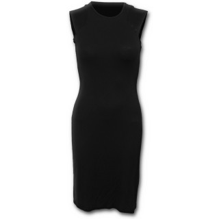 Tunique gothique élégante noire sans manche