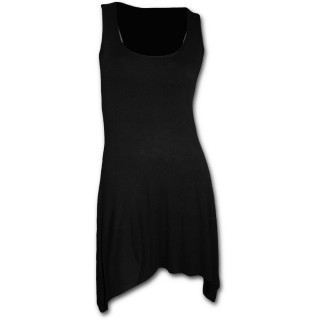 Tunique gothique longue noire élégante sans manche