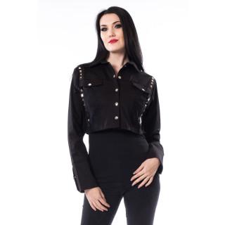 Veste courte femme goth-rock noir TIIA JACKET - Heartless
