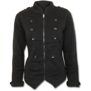 achat veste gothique femme noire style militaire pas cher. Black Bedroom Furniture Sets. Home Design Ideas