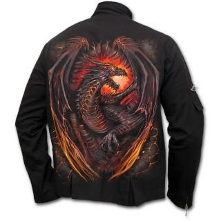 Veste gothique homme avec dragon flamboyant