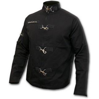 Veste gothique homme noire avec mousquetons